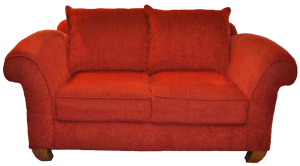 red sofa-transparent background